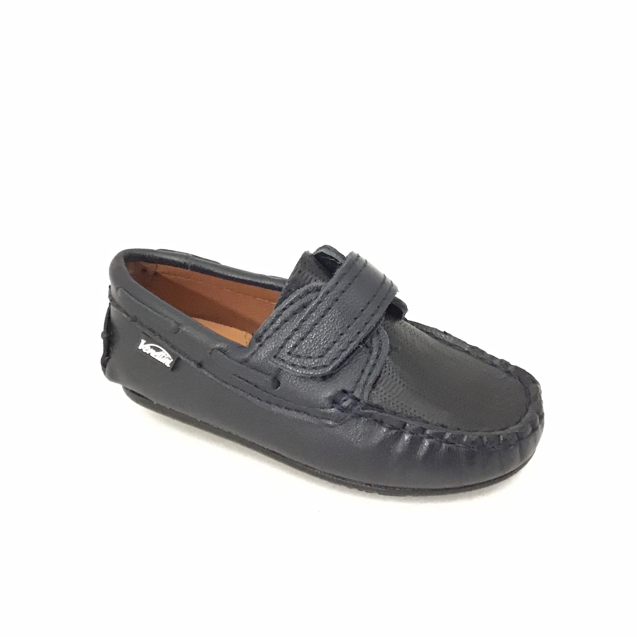 Venettini Velcro Navy Loafer