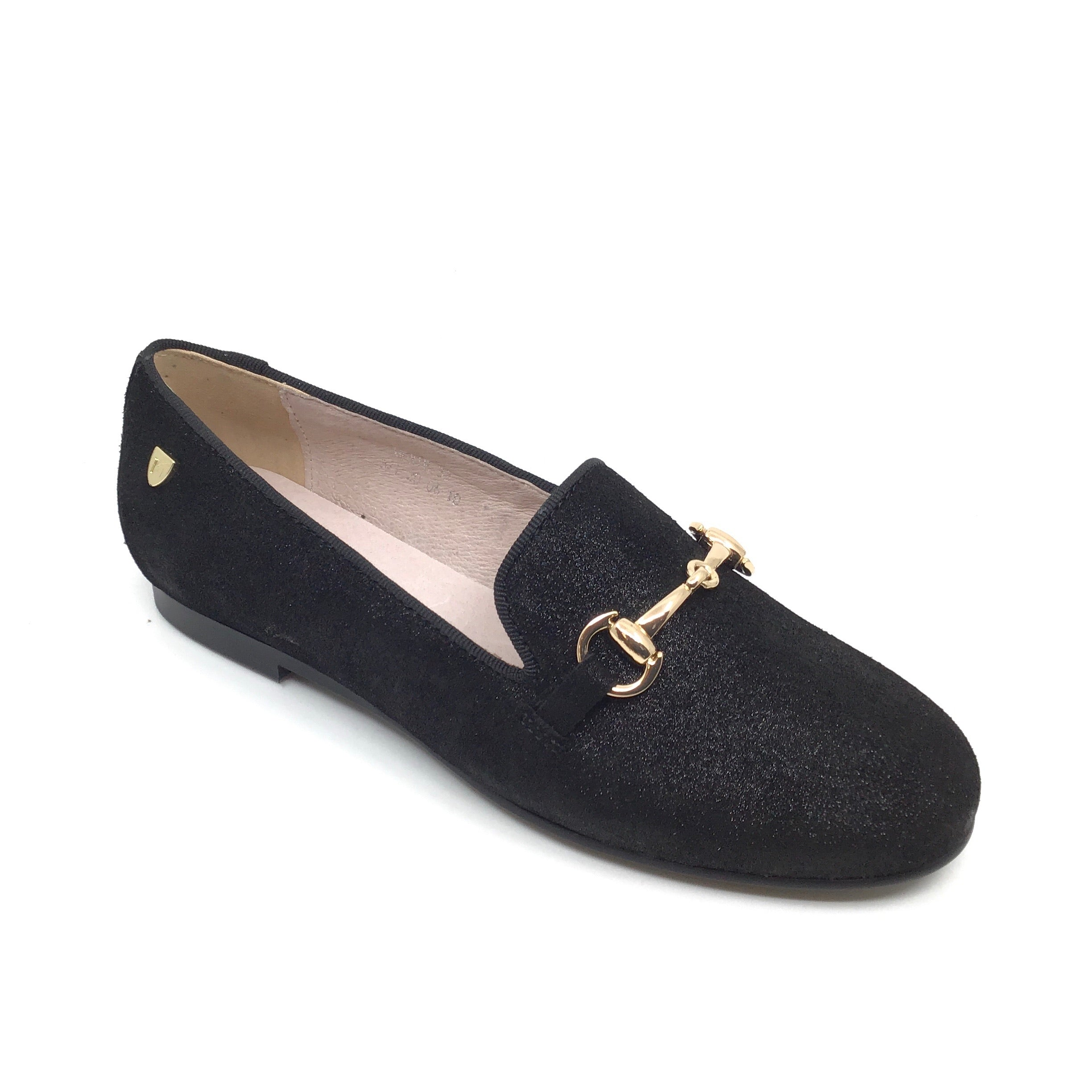 Venettini Black Sparkle Slip On with Chain