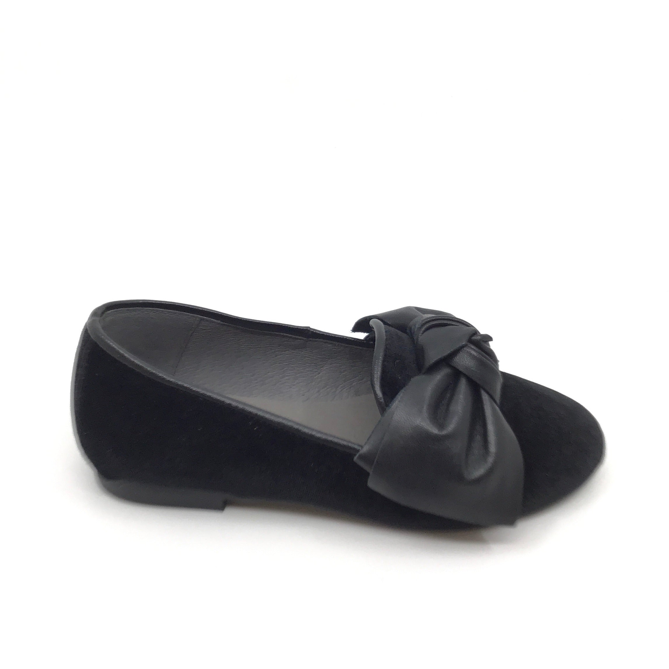 Blublonc Black Bow Slip On