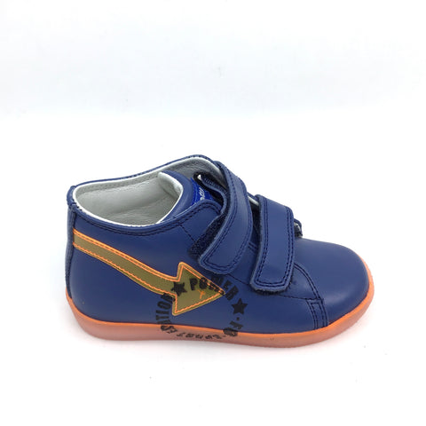 Falcotto Blue Velcro Sneaker With Arrow