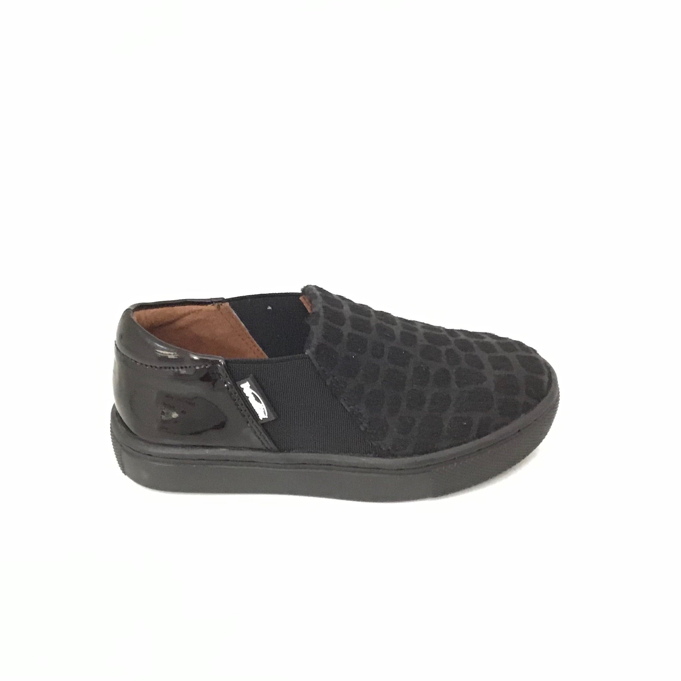 Venettini Black Pony Hair Slip On