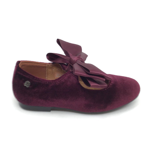 Veneziani Burgundy Mary Jane with Bow