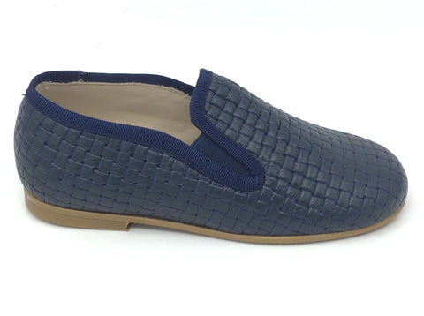 Luccini Navy Textured Loafer