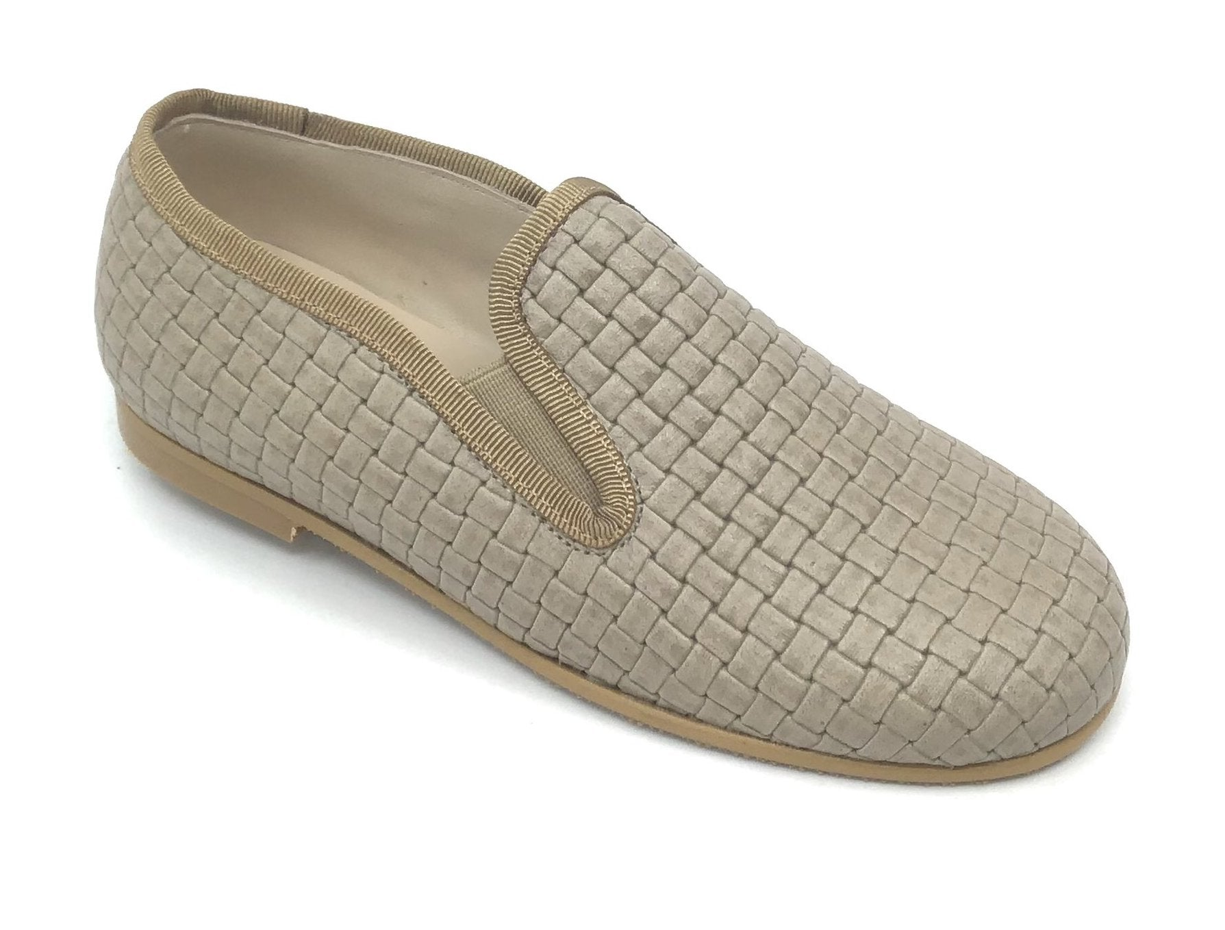 Luccini Tan Textured Loafer