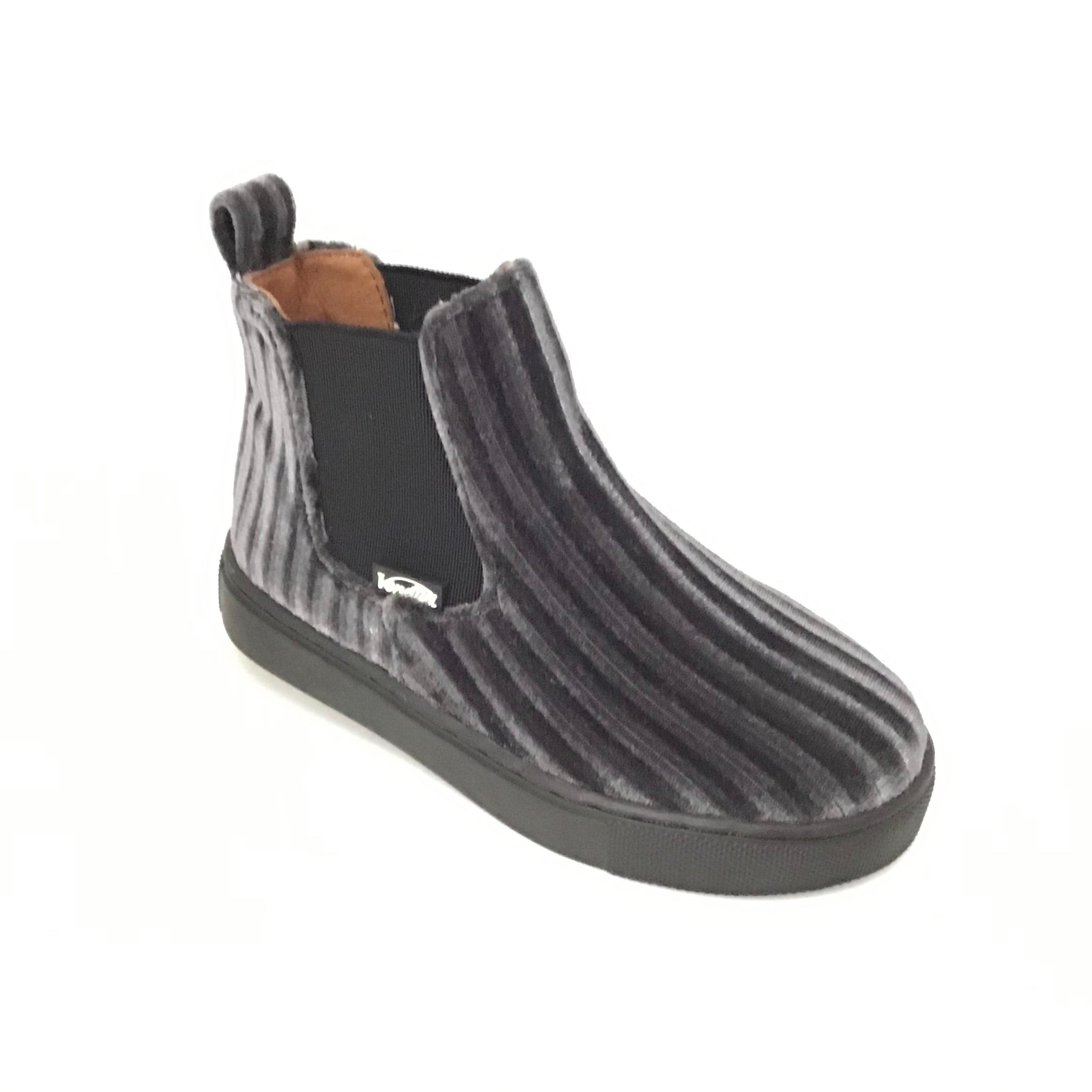 Venettini Grey Striped Bootie