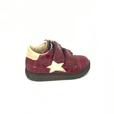 Falcotto Velcro Bordeaux Sneaker with Gold Star