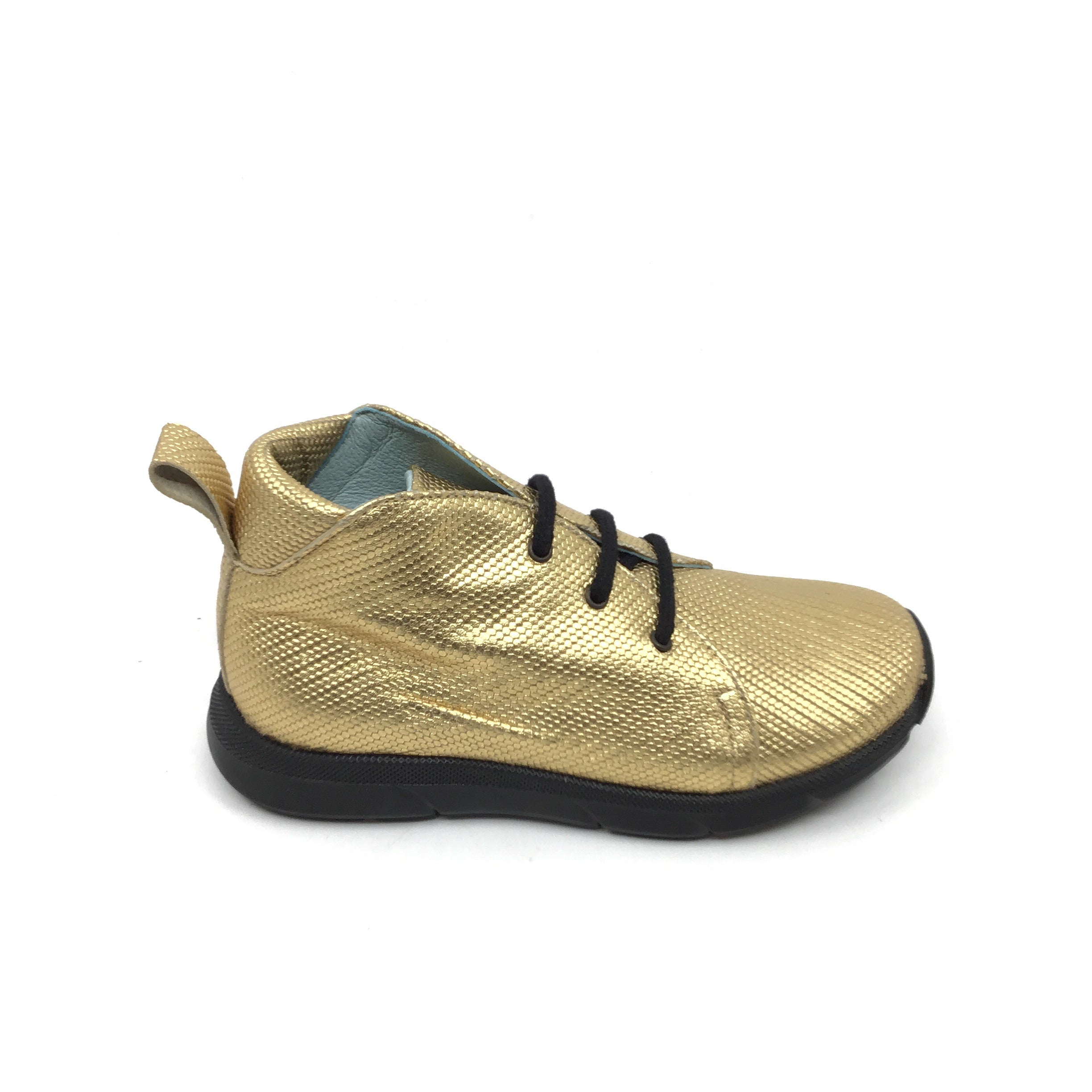 Gold Textured Metallic Shoe