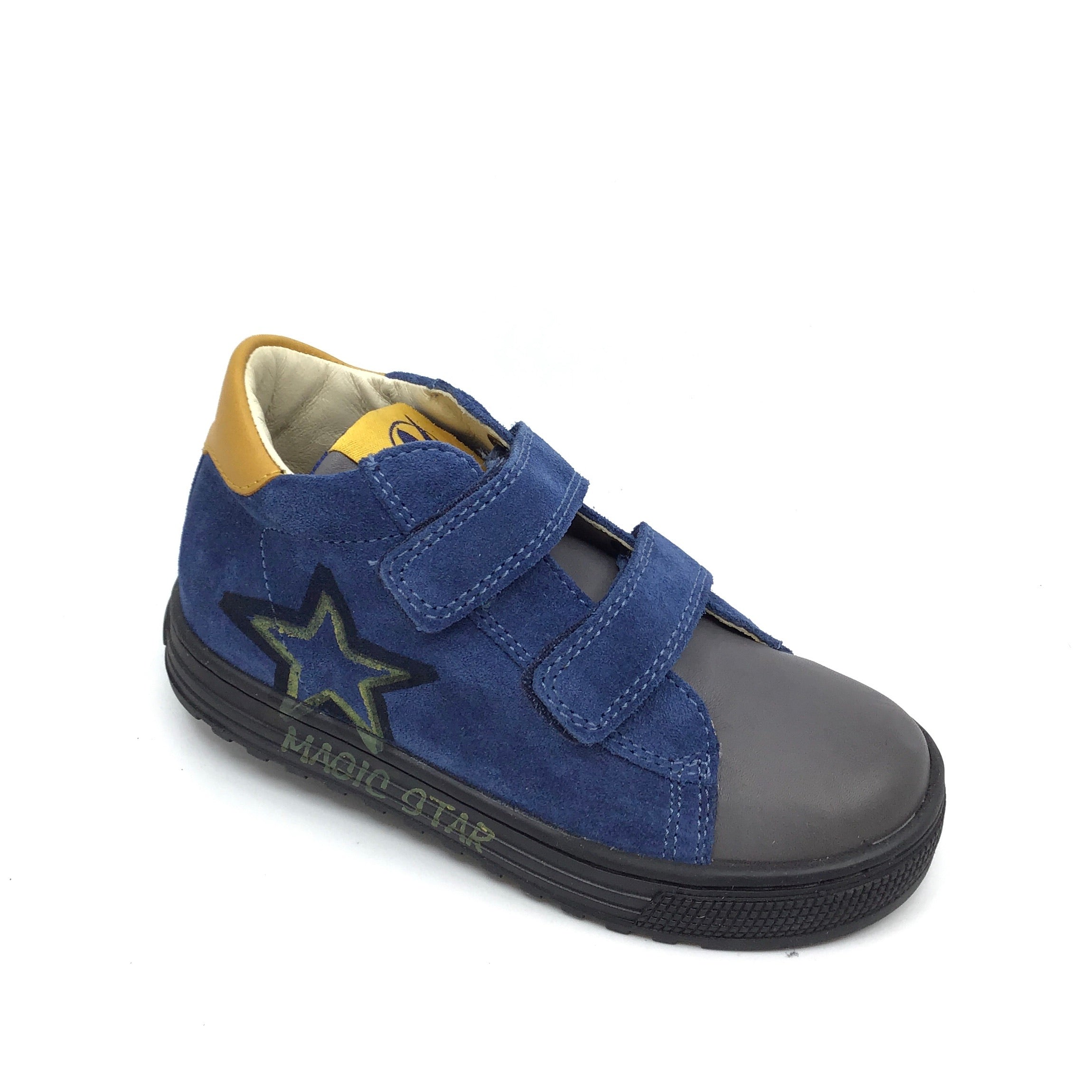 Naturino Double Velcro Blue Sneaker with Star