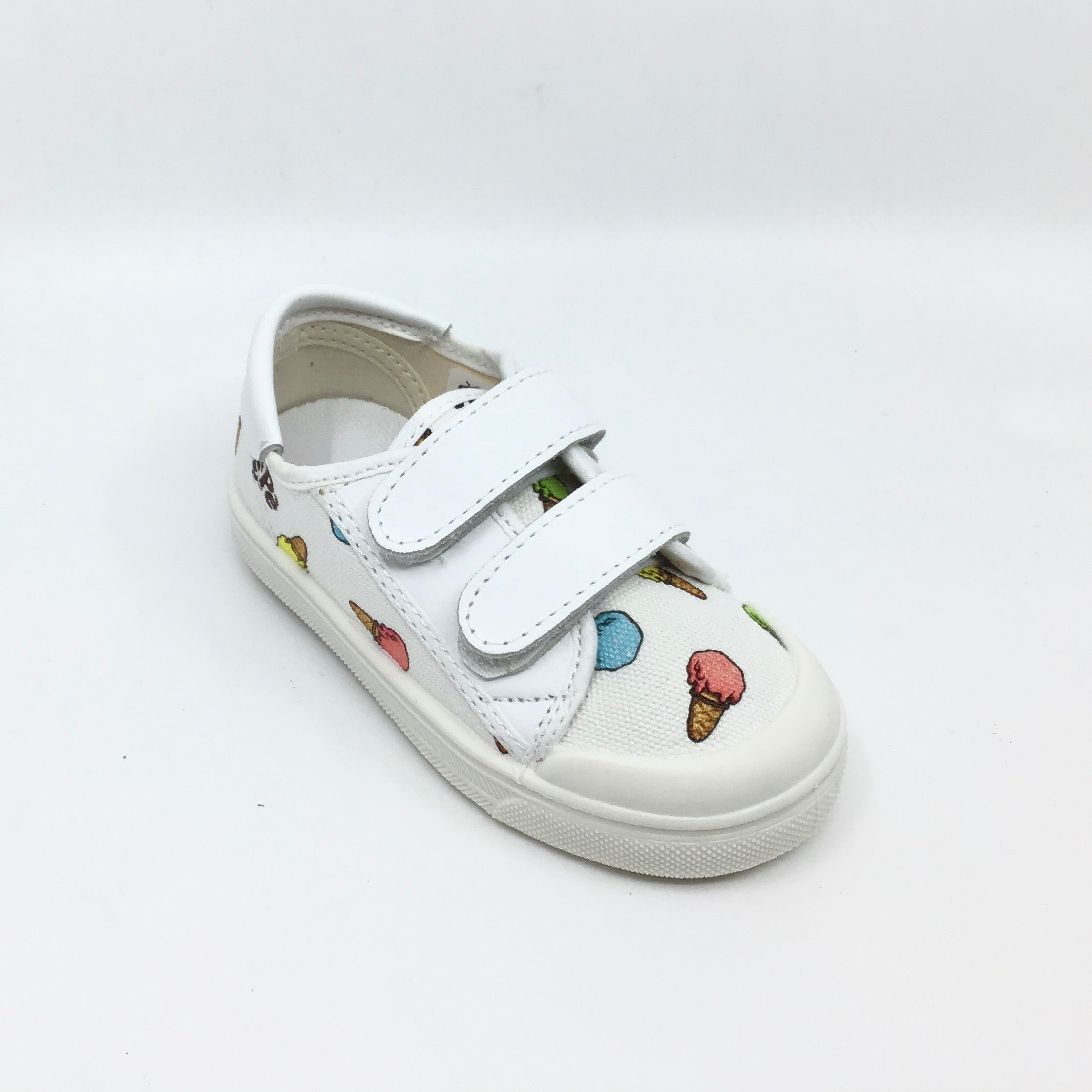 Pepe White Sneaker with Ice Cream Cone Design