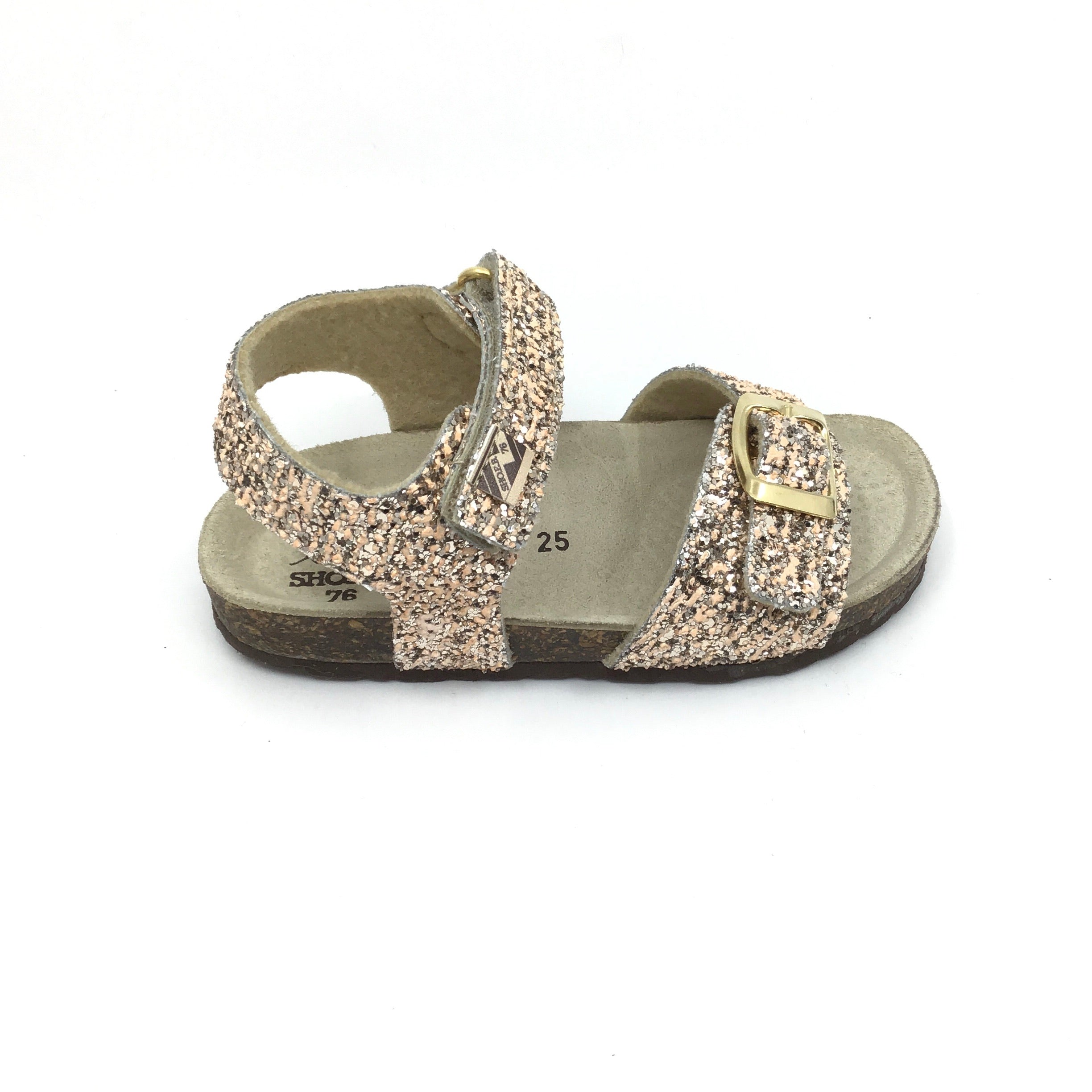 ShoeB76 Gold Glitter Sandal