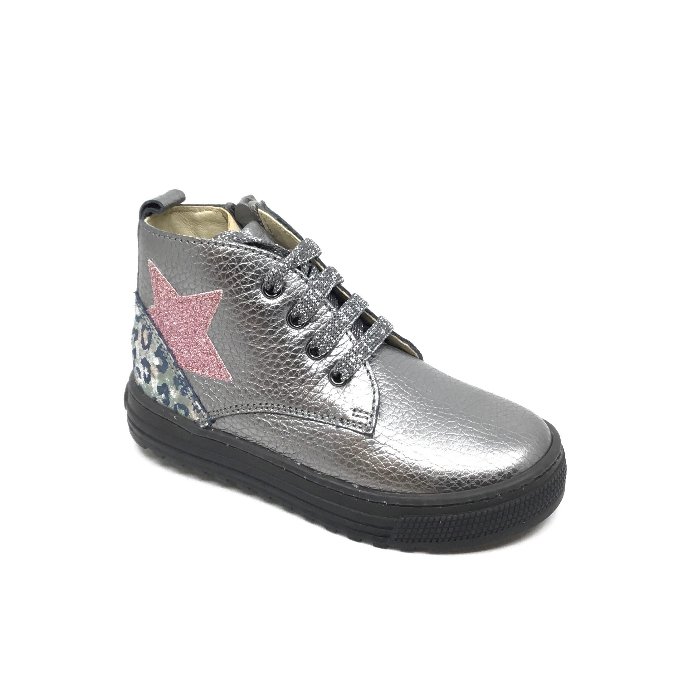 Naturino Silver/Multi Color Hi Top