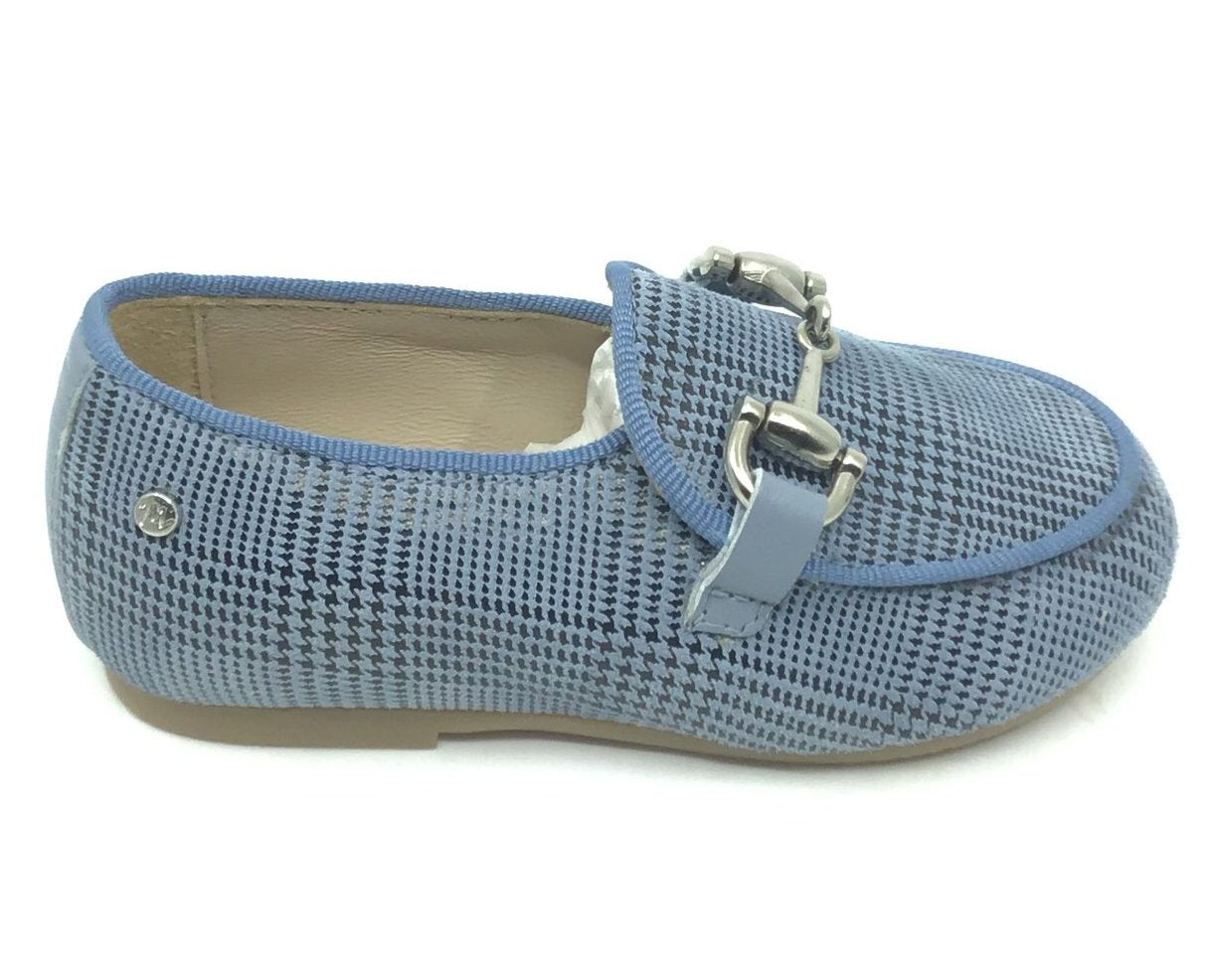 Manuela Blue Scottish Chain Loafer