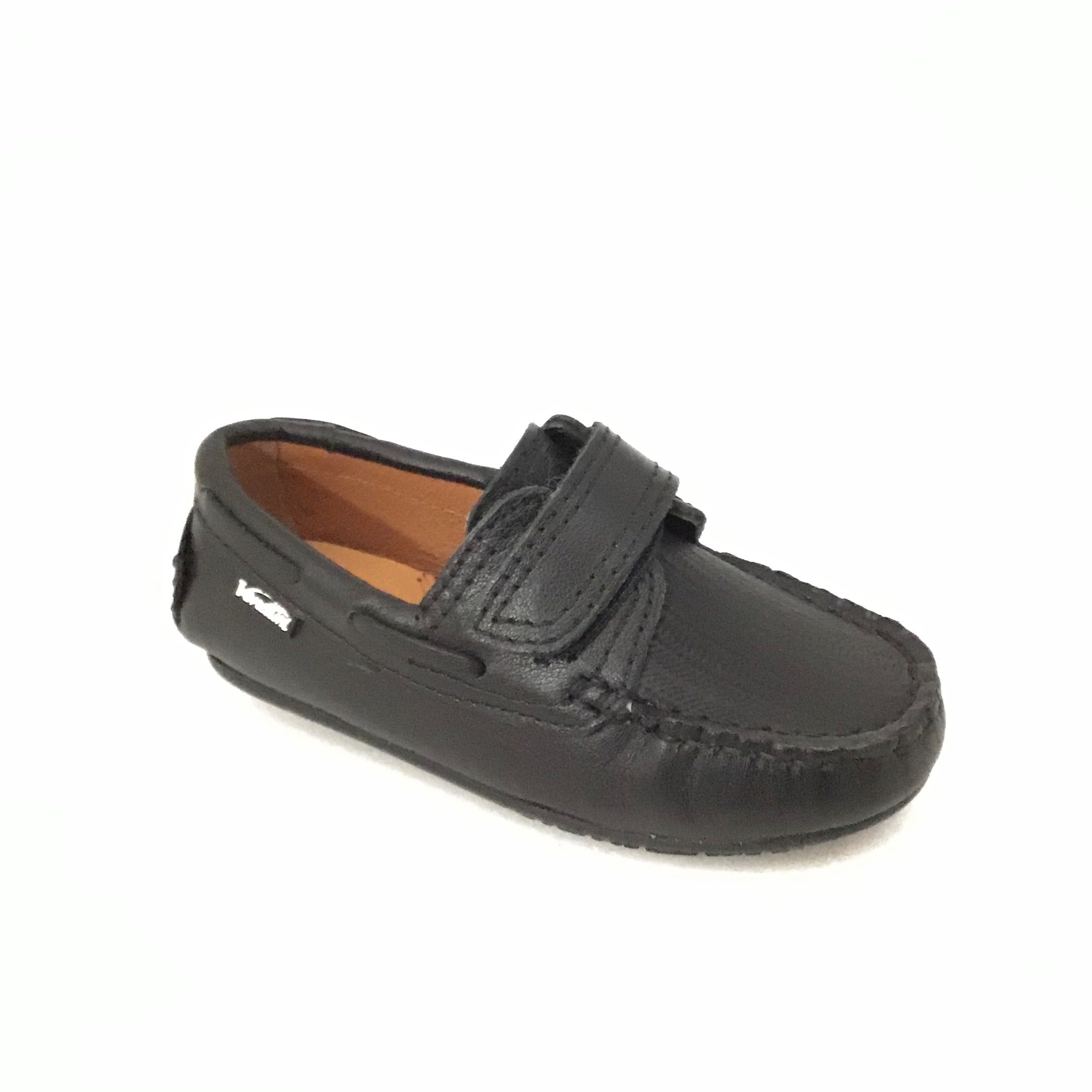 Venettini Velcro Black Loafer