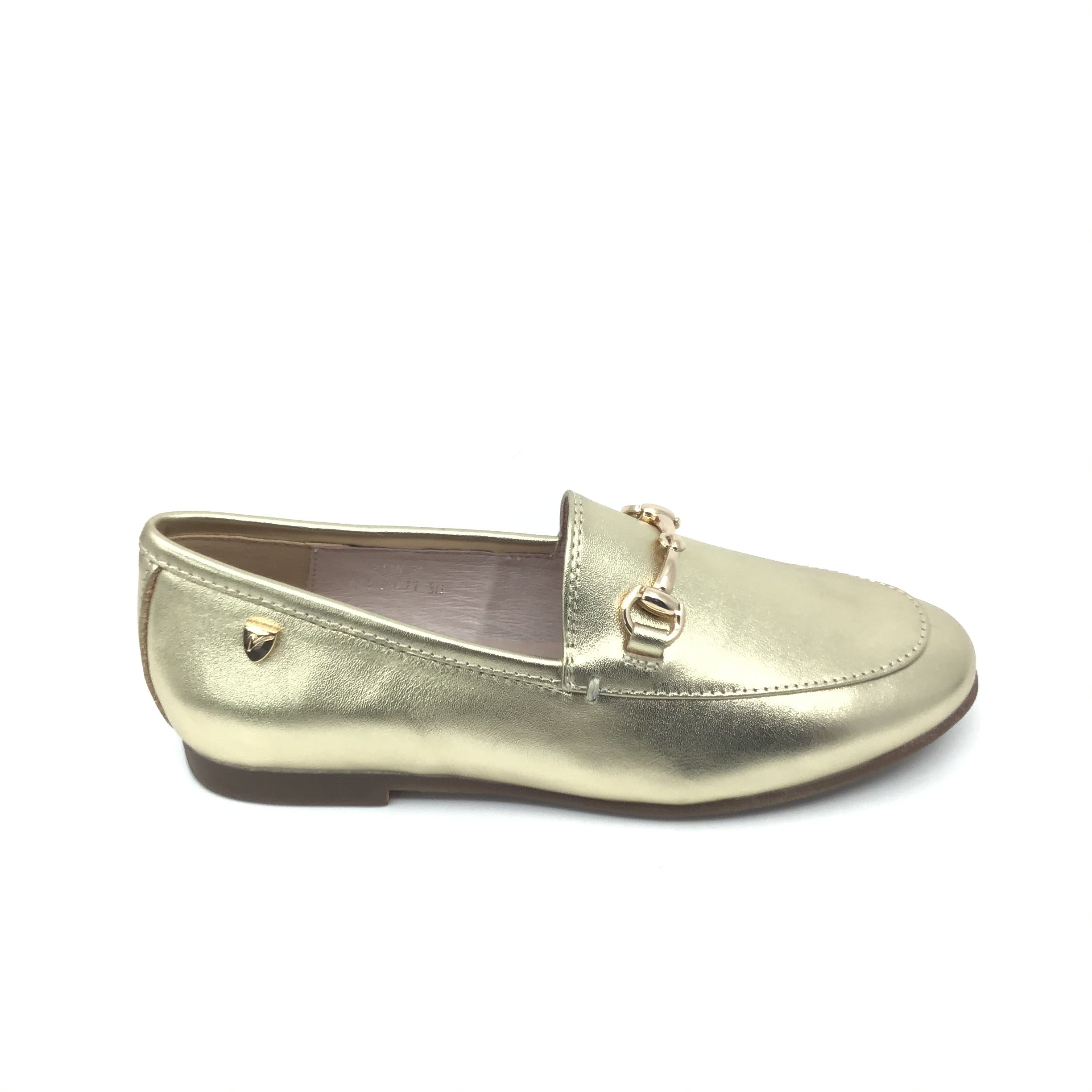 Venettini Gold Loafer with Chain