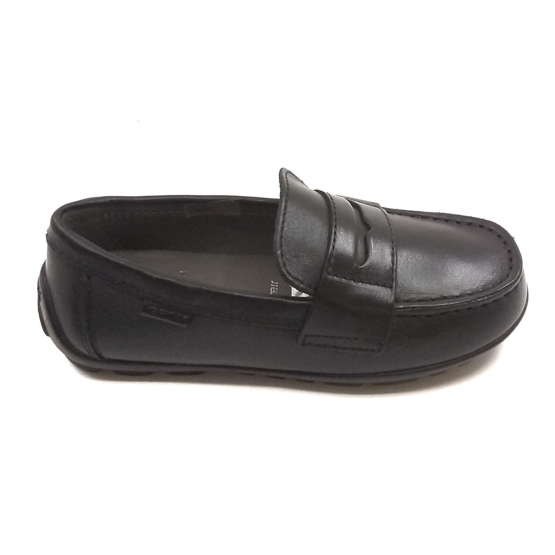 Geox Black Plain Penny Loafer
