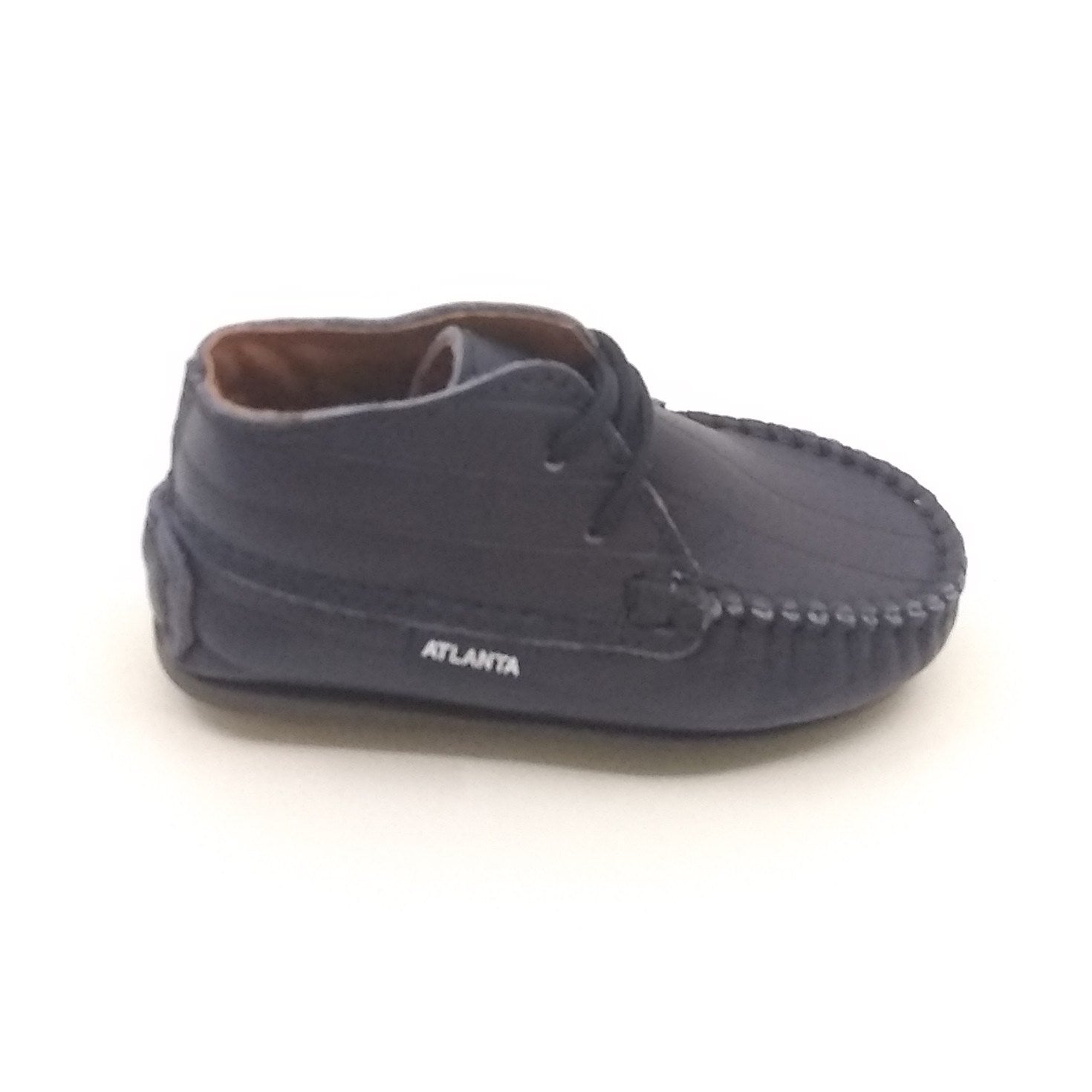 Atlanta Mocassin Navy Laceup First Shoe