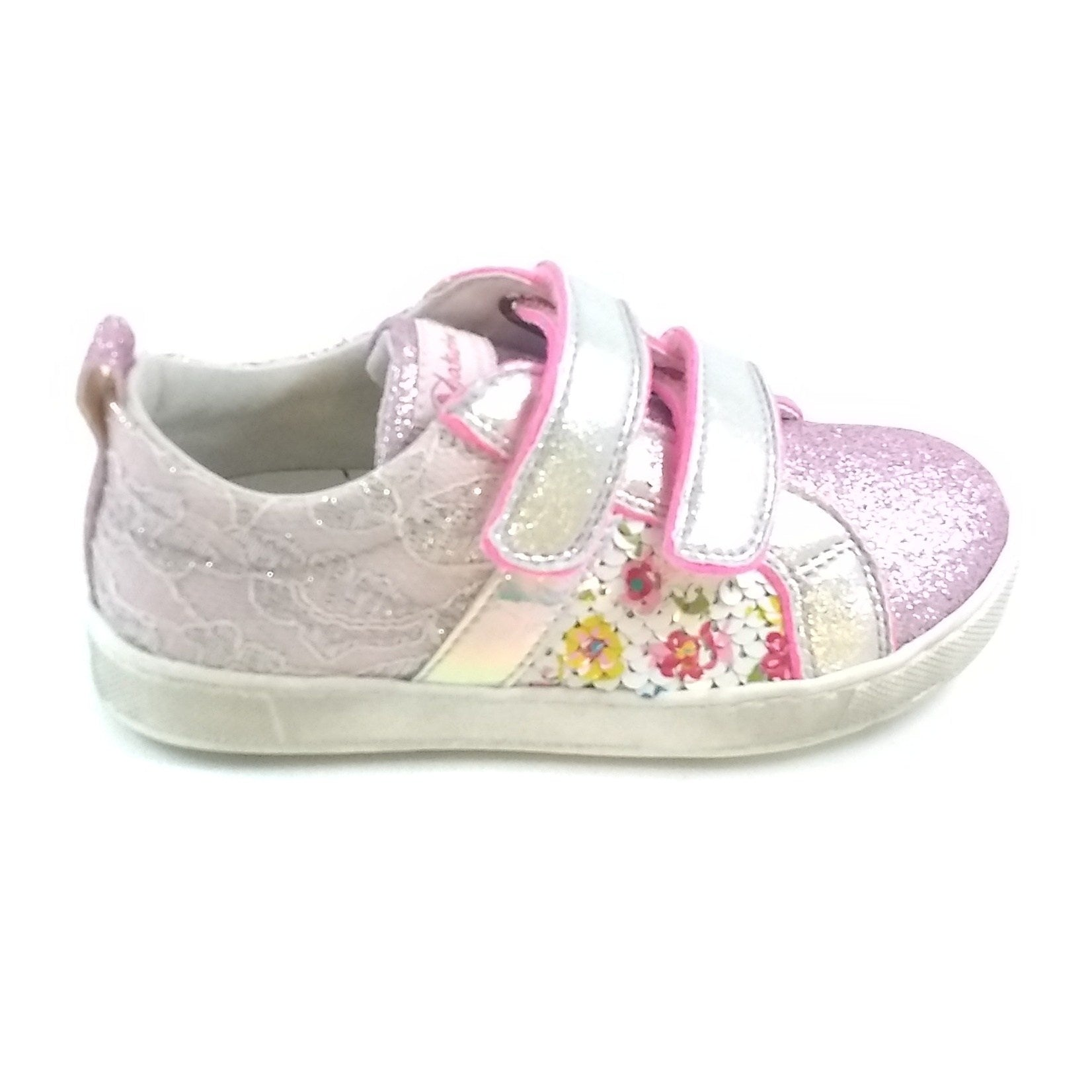 Naturino Pink Sequins And Glitter Sneaker