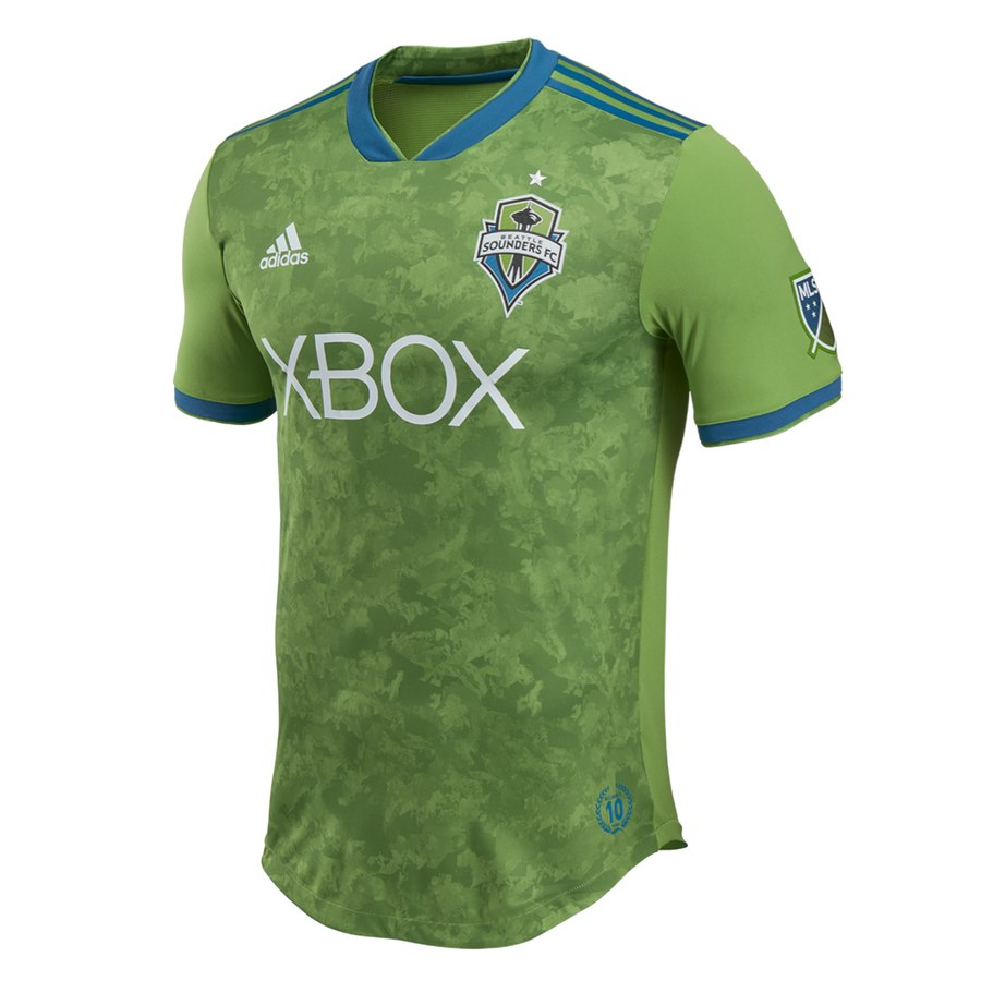 e19ca0903b2 Men s Seattle Sounders FC adidas Green 2018 Primary Authentic Jersey – My  Soccer Hub