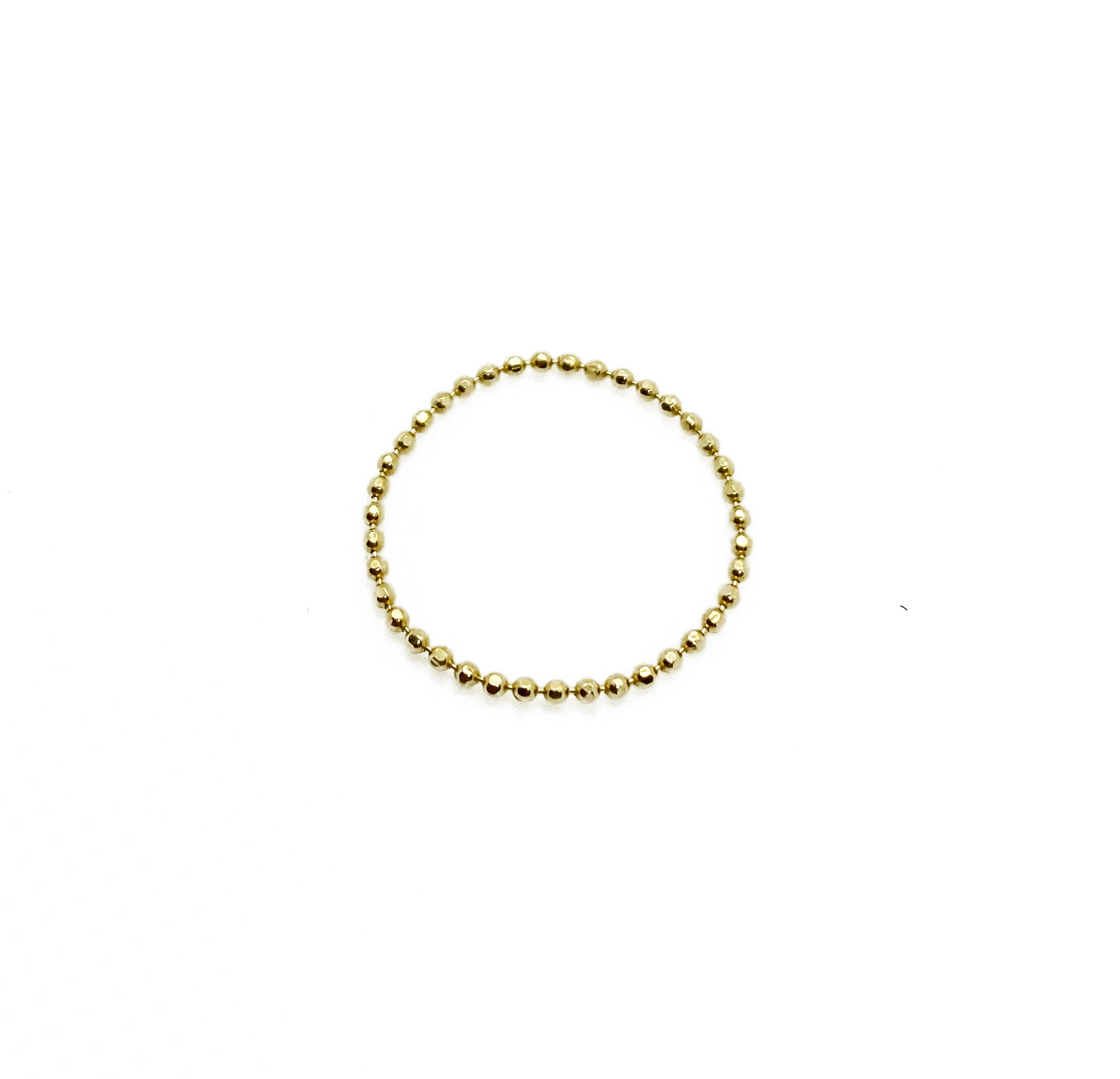 14k SOLID BALL CHAIN RING