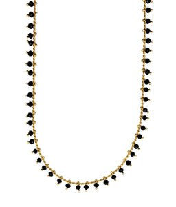 Black Beaded Chain Necklace