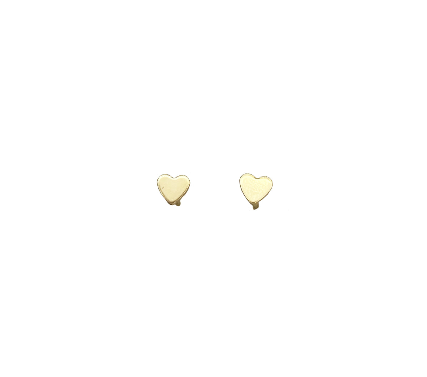 14K SOLID GOLD SUPER TINY HEART STUDS