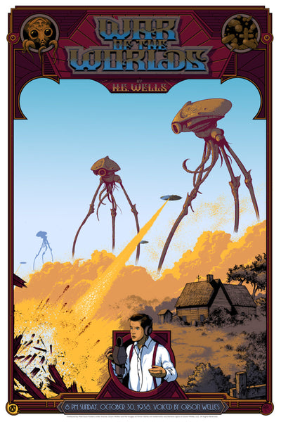 WAR OF THE WORLDS SCREEN PRINT