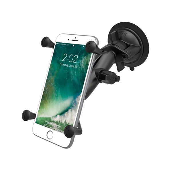 RAM Twist-Lock Suction Cup Mount with Universal X-Grip Phone/Phablet Cradle (RAM-B-166-UN10U) - RAM Mount Malaysia