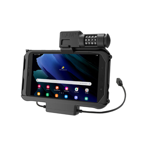 RAM-HOL-SAM58PDCLU RAM Combo Locking Power + Data Dock for Samsung Tab Active3 & Active2-image-1