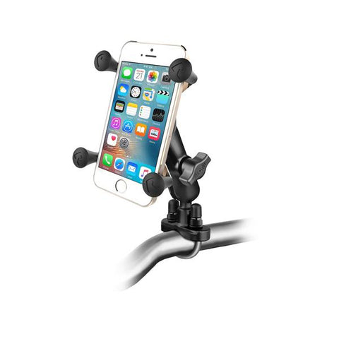 RAM Handlebar U-Bolt Mount with Universal RAM® X-Grip® Cell/iPhone Cradle (RAM-B-149Z-UN7U) - RAM Mount Malaysia