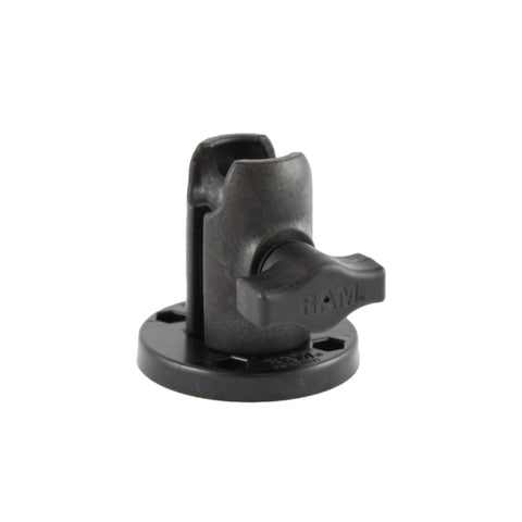 RAM® Single Socket Arm with Round Swivel Plate (RAP-B-200-1-293U)