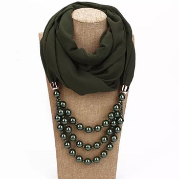 PEARL SCARF NECKLACE