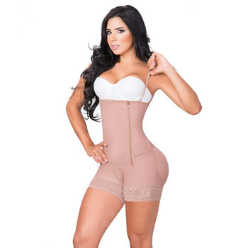 BOYSHORTS STYLE BODYSHAPER WITH COVERED BACK AND LATERAL INVISIBLE ZIPPER - 1515