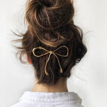 BOW METAL HAIR CLIP PIN