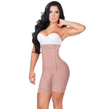SHORTS BODY SHAPER STRAPLESS WITH LATERAL ZIPPER