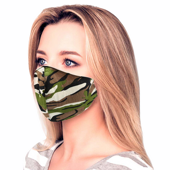 Camouflage Print Cotton Fashion Mask