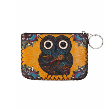 OWL PRINTED COIN PURSE
