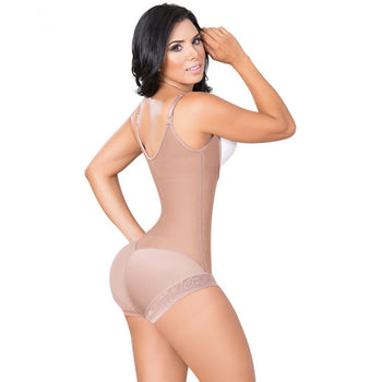 BOYSHORTS PANTY BODYSHAPER WITH COVERED BACK AND ZIPPER - 1415