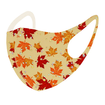 MAPLE LEAVES PRINT FASHION MASK