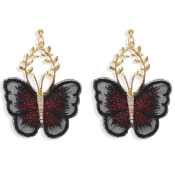 UNIQUE LACE BUTTERFLY EARRINGS