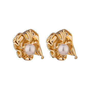 IRREGULAR PEARL STUD EARRINGS