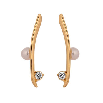 MINIMALIST IMITATION PEARL EARRINGS