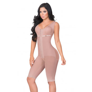 LONG BODY SHAPER WITH BRASSIER AND WIDE STRAPS - 3050