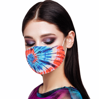 REUSABLE TIE DYE PRINT COTTON FASHION MASK