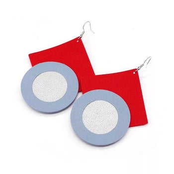 HANDMADE PU LEATHER EARRINGS