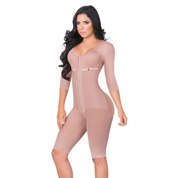 LONG BODYSHAPER WITH BRASSIER AND SLEEVES