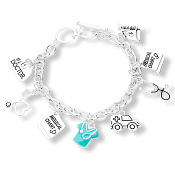 METAL DOCTOR CHARM TOGGLE BRACELET