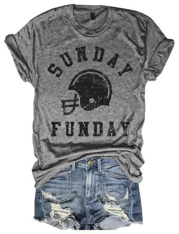 Sunday Funday Football Helmet Tee