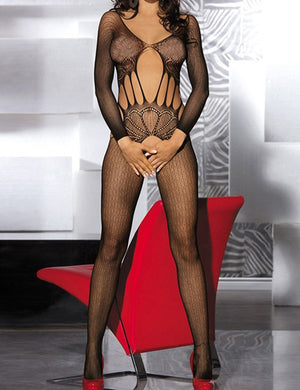 Mesh Open Crotch Body Stocking - Missbodybra
