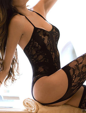 Lacy Garter Dress With Stockings - Missbodybra