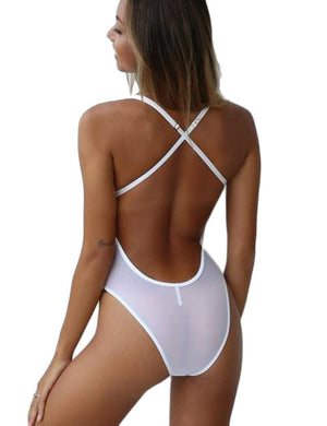 Hollow Out Cross Back Teddy - Missbodybra
